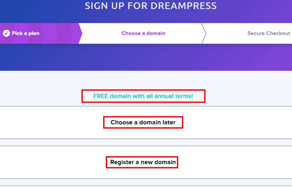 Register your domain