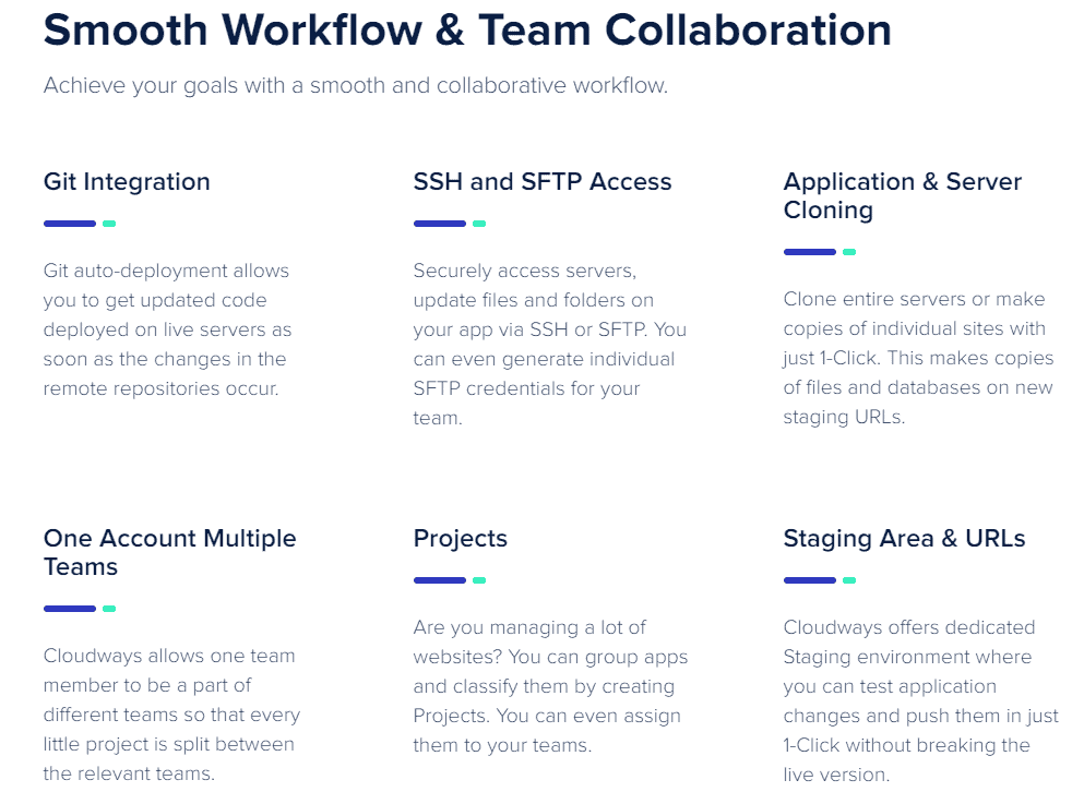 cloudways easy team collaboration
