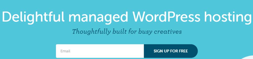Flywheel hosting home page