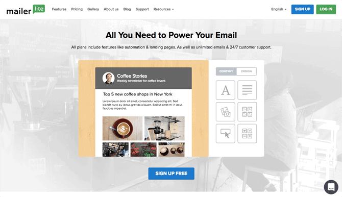 mailerlite free email marketing service
