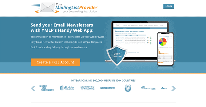 ymlp free email marketing service