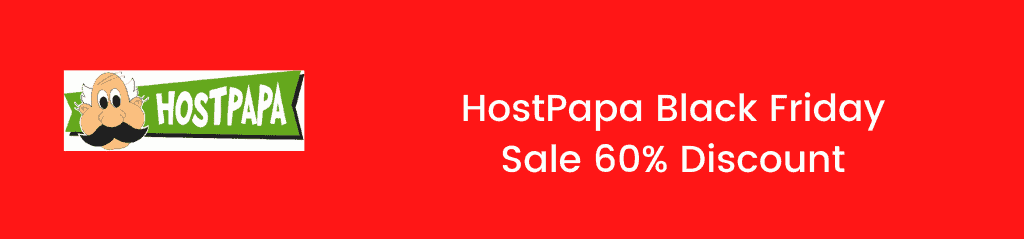 HostPapa Black Friday sale 2020