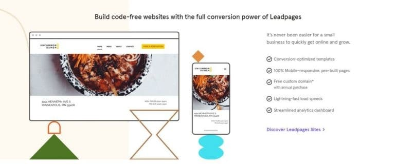 Leadpages Website Builder