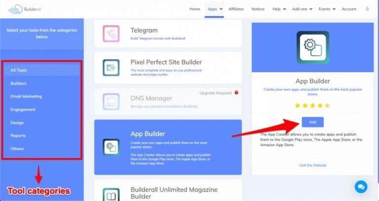 builderall app builder